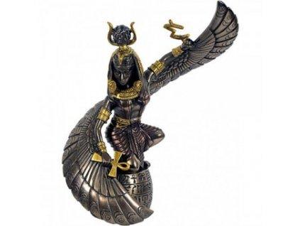 Detailní soška Isis bronzové barvy