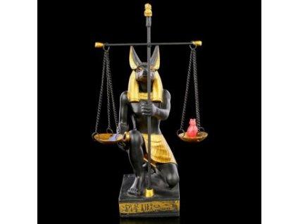 Soška Anubis s váhami