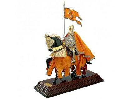Rytíři na koni žlutý, soška