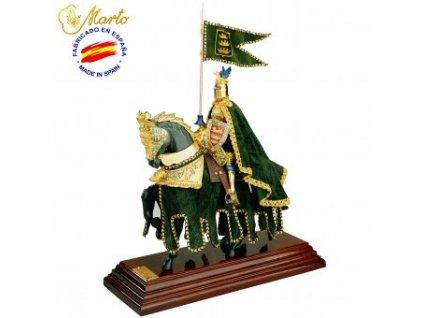 Soška rytíře na koni zelená