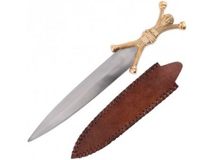 Keltská dýka s jílcem lidských tvarů