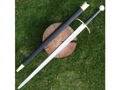Obouruční meč na historický šerm s mosaznou záštitou