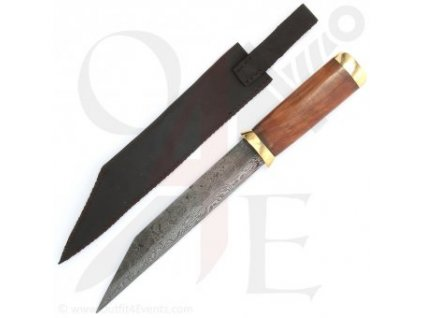 Krátký sax z Damaškové oceli