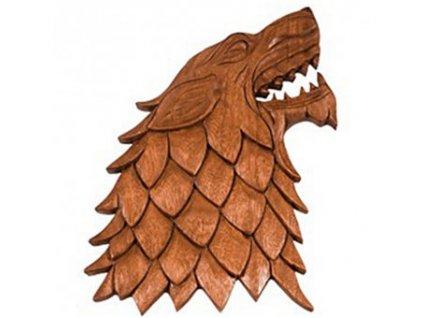 Zlovlk ručně vyřezávaný ze dřeva - Hra o trůny