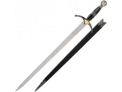 Krátký meč Křižák s pochvou