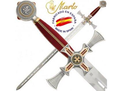 Templářský meč damaškovaný