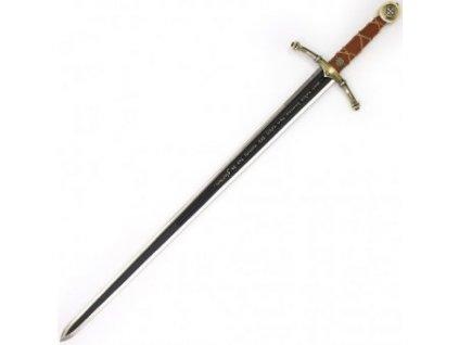 Templářský meč s plaketou dekorativní