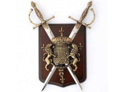 Dekorativní nástěnný štít královský erb