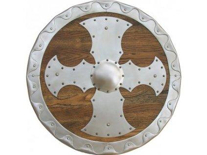 Oplátovaný kruhový štít 55cm