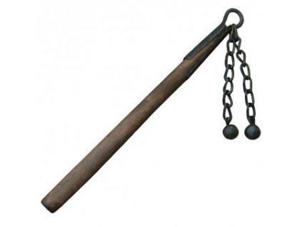 Biják; dva řetězy s hladkou koulí