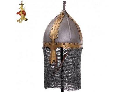 Ruská středověká helma s kroužkovým závěsem Bojar