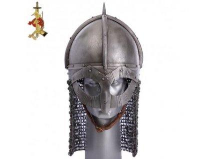 Vikinská helma Gjermundbu patinovaná