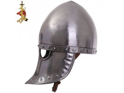 Italo-Normanská helma s koženou výstelkou, síla 1,5 mm