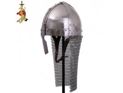 Normanská nánosníková helma s kroužkovým závěsem