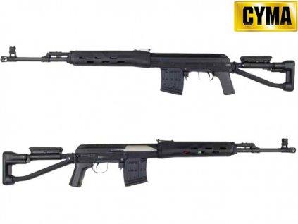 SVD-S -plast/kov, černá CM057S