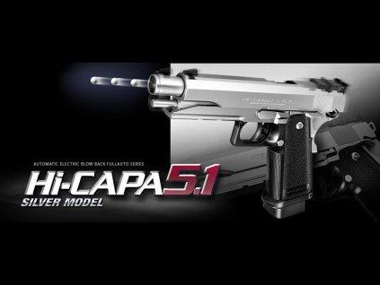 Hi-Capa 5.1 stříbrná (na AAA baterie)