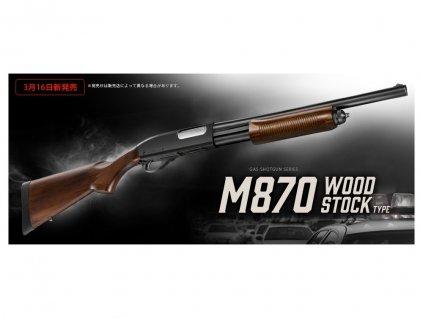 Brokovnice M870 Tactical - dřevěná