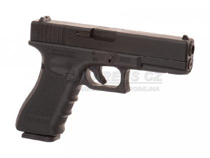 Glock 17 Gen4 - kovový závěr, blowback - černý (Glock Licensed)