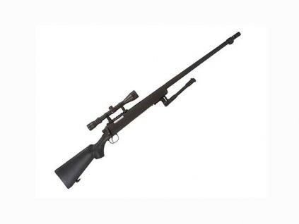 MB07D Sniper - olivová plus dvojnožka plus optika