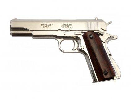 Colt 45 Government 1911 - dřevěná lakovaná rukojeť