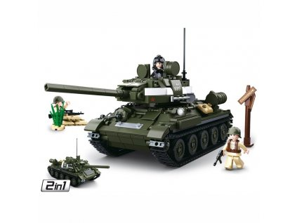 Stavebnice SOVĚTSKÝ TANK T-34/85 2v1