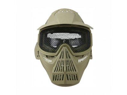 Maska celoobličejová s mřížkou COYOTE