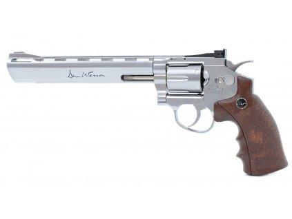 """Vzduchový revolver ASG Dan Wesson 8"""" Silver 4,5mm"""