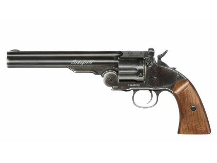 """Vzduchový revolver ASG Schofield 6"""" Černá 4,5mm"""