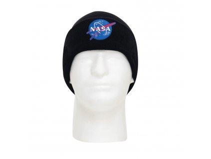 Čepice pletená NASA Deluxe ČERNÁ