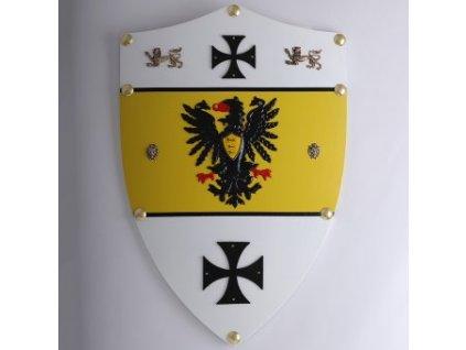 Dřevěný štít Fridrich I. Barbarossa