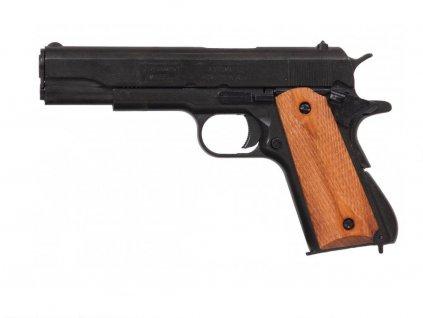 Colt 45 Goverment 1911 - rytá dřevěná střenka