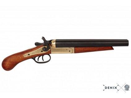 denix Double barrel pistol USA 1868