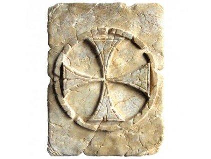 Historický templářský kříž z kamene 20x15cm