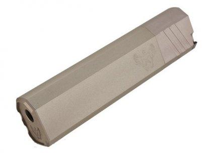 "Tlumič 7"" OPS Style Mock Suppressor, plus 14mm, pískový"