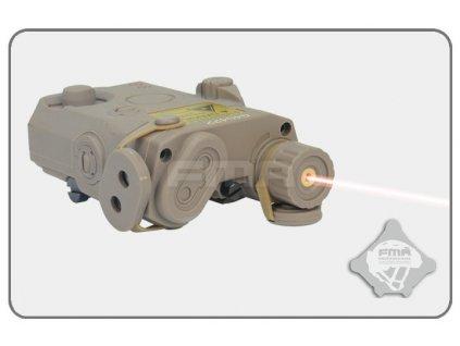 Box na baterii AN/PEQ15 plus červený laser, pískový