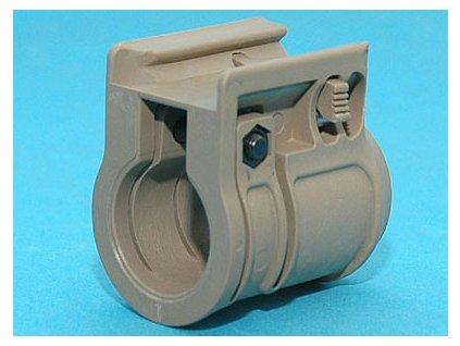RIS montáž svítilny - průměr 25mm - písková