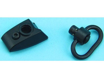 Zarážka palce s montáží popruhu na levou stranu Keymod předpažbí - černá