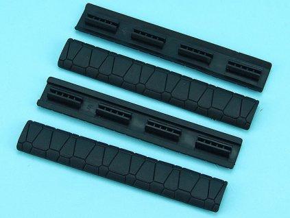 Gumové krytky SAI lišty, 4ks - černé