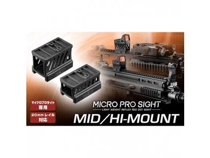 Střední a vysoká montáž pro kolimátor MICRO PRO SIGHT