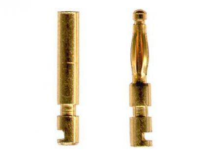 Dutinkový zlacený konektor 2mm - pár
