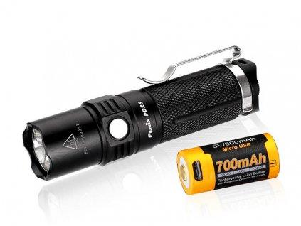 LED svítilna Fenix PD25 plus USB aku 700 mAh