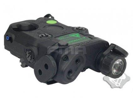 AN/PEQ15 Upgrade Version - bílá LED svítilna plus zelený laser s IR krytkami plus IR přísvit, černý