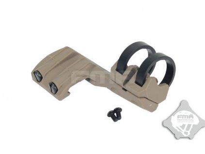 Boční pravá montáž svítilny na RIS průměr 20-25mm - písková