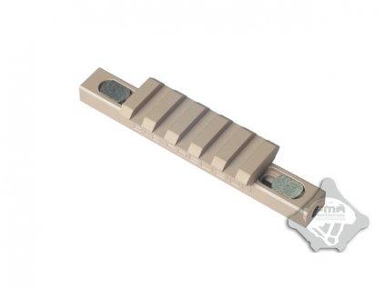 CNC lišta pro 45° montáž na předpažbí - písková