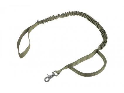 Taktické vodítko na psa - LANYARD, olivový
