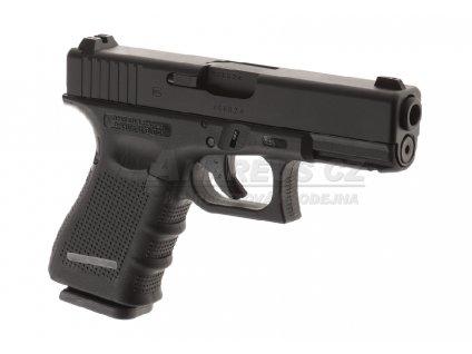Glock 19 Gen4 - kovový závěr, blowback - černý (Glock Licensed)