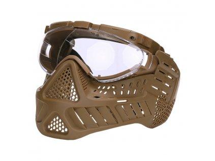 Maska ochranná PAINTBALL LED KHAKI