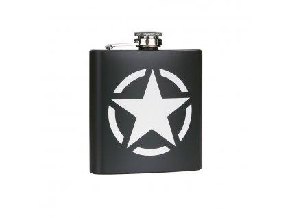 Placatka US ARMY STAR 170 ml NEREZ OCEL