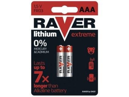 Baterie AAA Litium Raver