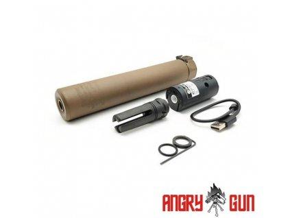 Nasvětlovací tlumič QD SOCOM762 (-14mm levotočivý), FDE (FULL MARKING)